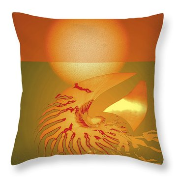 Sungazing Throw Pillow