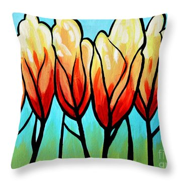 Sunglow  Throw Pillow by Elizabeth Robinette Tyndall