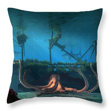 Sunken Throw Pillow by Daniel Eskridge