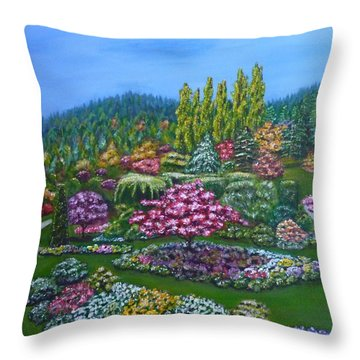 Sunken Garden Throw Pillow