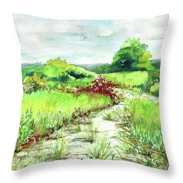Sunken Meadow, September Throw Pillow