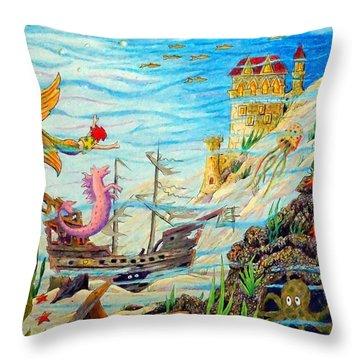 Sunken Ships Throw Pillow