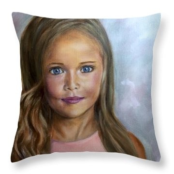 Sunkissed Innocence Throw Pillow