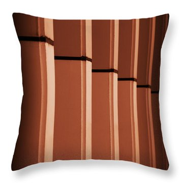 Sunkissed Pillars Throw Pillow by Baggieoldboy