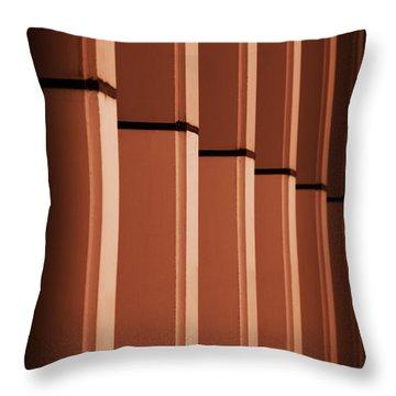 Sunkissed Pillars Throw Pillow by Stephen Melia