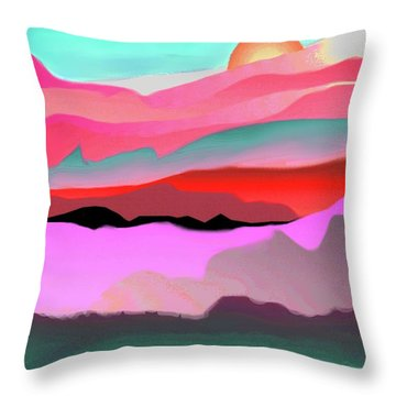 Sunland 3 Throw Pillow by Mary Armstrong