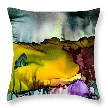 Sunless Sea Throw Pillow by Susan Kubes