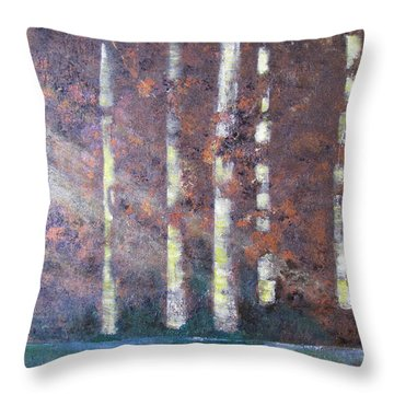 Sunlight And Birch Throw Pillow by Gary Smith