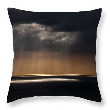 Sunlight And Cloud Over The Channel Throw Pillow by Doug Harman