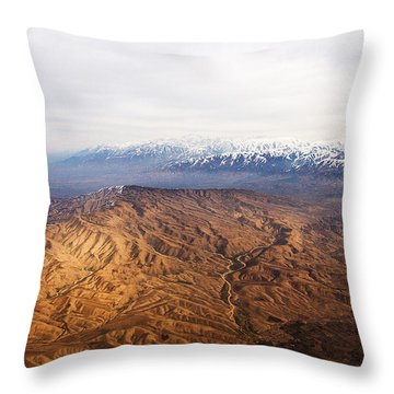 Sunlight And Snow-capped Peaks Throw Pillow