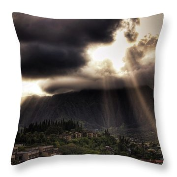 Sunlight Breaking Through The Gloom Throw Pillow