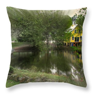 Sunlight Breaks Through On Chocorua Pond Throw Pillow
