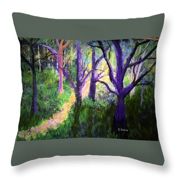Sunlight In The Forest Throw Pillow