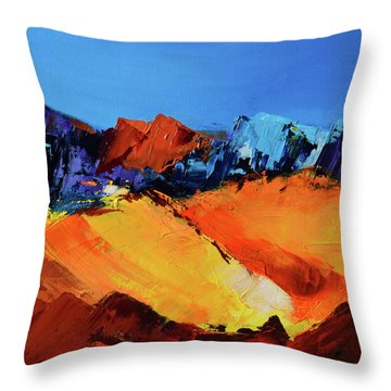 Sunlight In The Valley Throw Pillow