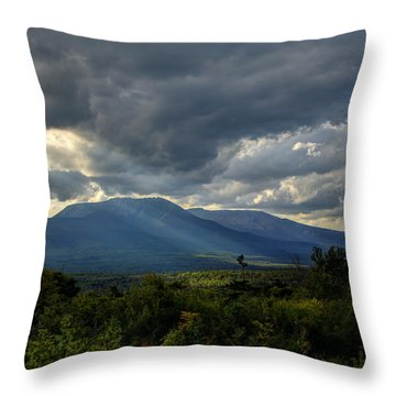Sunlight On Katahdin Throw Pillow