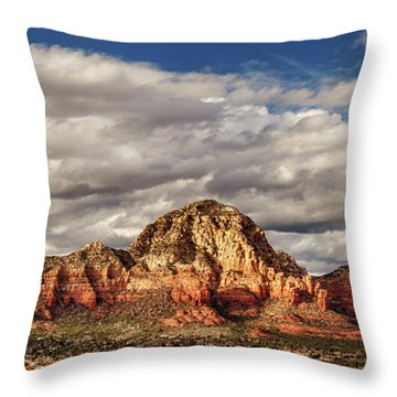 Throw Pillow featuring the photograph Sunlight On Sedona by James Eddy