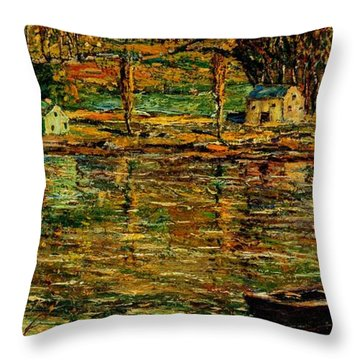 Sunlight On The Harlem River 1919 Throw Pillow