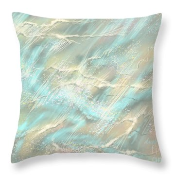 Throw Pillow featuring the digital art Sunlight On Water by Amyla Silverflame