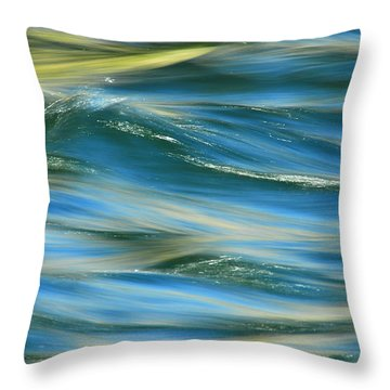 Sunlight Over The River Throw Pillow
