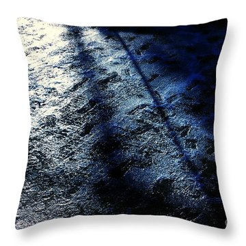 Sunlight Shadows On Ice - Abstract Throw Pillow