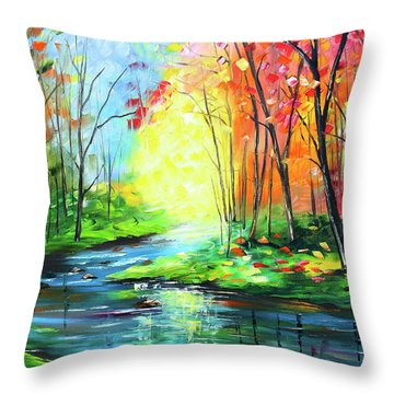 Sunlight Shining Throw Pillow