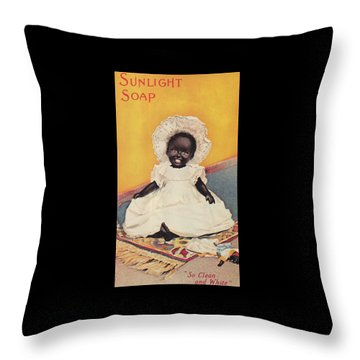 Sunlight Soap So Clean And White Throw Pillow