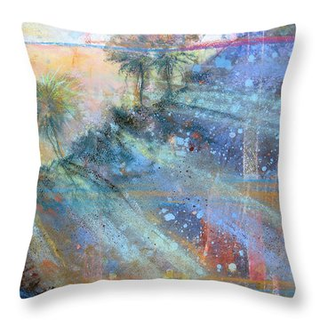 Sunlight Streaks Throw Pillow
