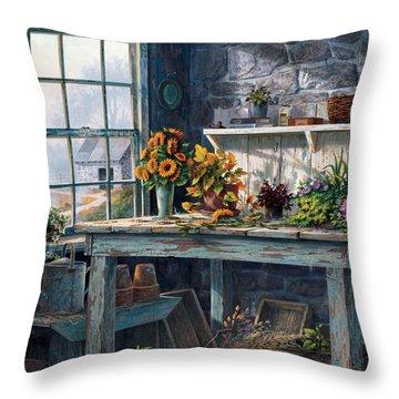 Sunlight Suite Throw Pillow