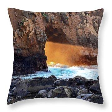 Sunlight Through  Throw Pillow