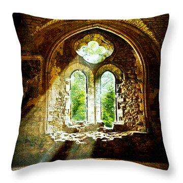 Sunlight Through The Ruins Throw Pillow