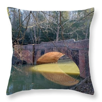Sunlight Under Bridge Throw Pillow