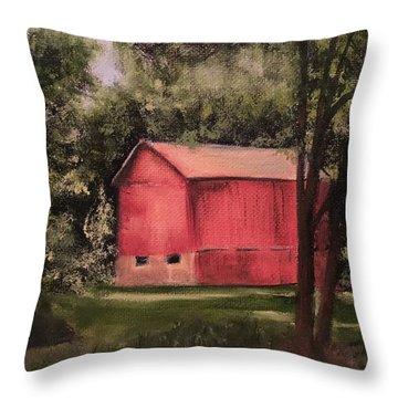 Sunlit Barn Throw Pillow