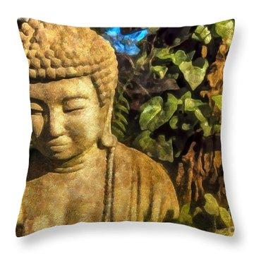 Sunlit Buddha 2015 Throw Pillow