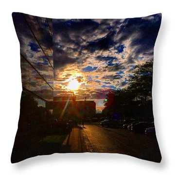 Sunlit Cloud Reflection Throw Pillow