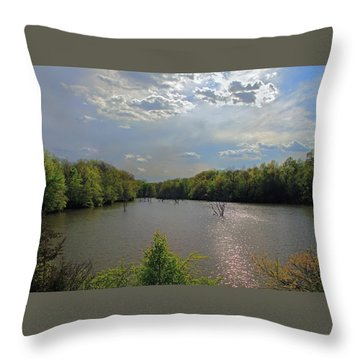 Sunlit Clouds Throw Pillow