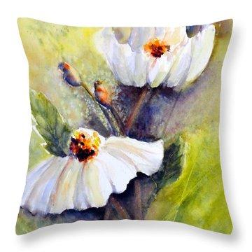 Sunlit Faces - Matilija Poppies Throw Pillow