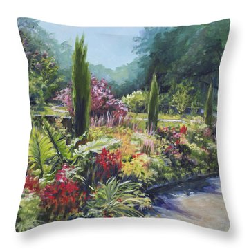 Sunlit Garden Throw Pillow