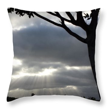 Sunlit Gray Clouds At Otay Ranch Throw Pillow