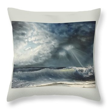 Sunlit Sea Throw Pillow