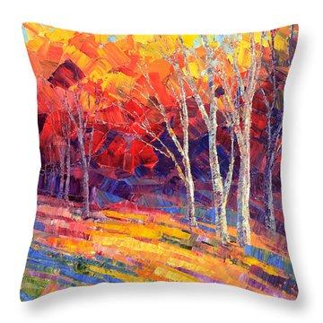 Sunlit Shadows Throw Pillow by Tatiana Iliina