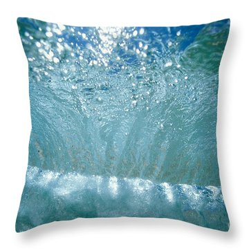 Sunlit Wave Throw Pillow by Vince Cavataio - Printscapes