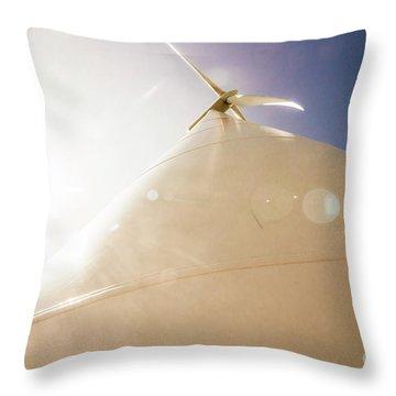 Sunlit Wind Power Throw Pillow