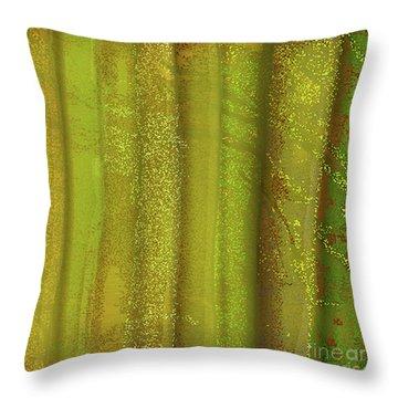 Sunlit Fall Forest Throw Pillow
