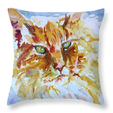 Throw Pillow featuring the painting Sunlite by P Maure Bausch