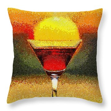 Sunned Wine - Da Throw Pillow