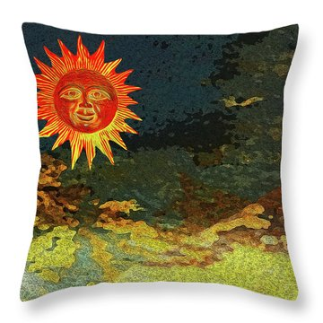 Sunny 1 Throw Pillow by Bruce Iorio