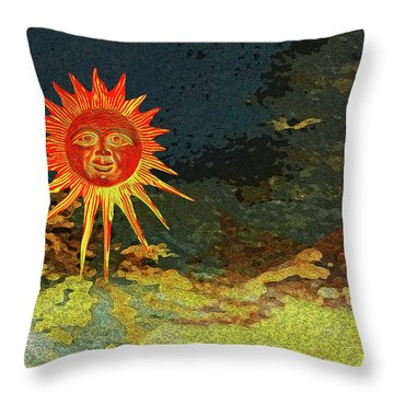 Sunny 3 Throw Pillow by Bruce Iorio