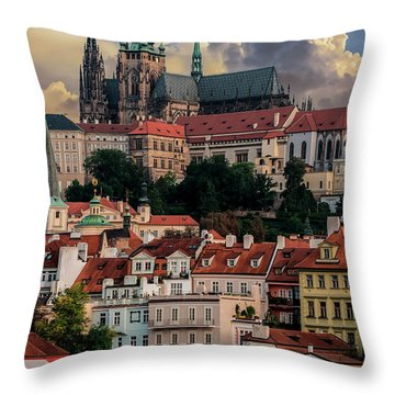 Sunny Afternoon In Prague Throw Pillow