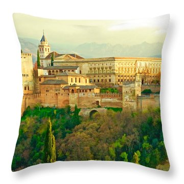 Sunny Alhambra Throw Pillow
