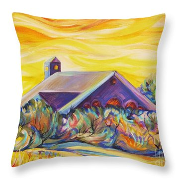 Throw Pillow featuring the painting Sunny Bath Of Midnapore by Anna  Duyunova